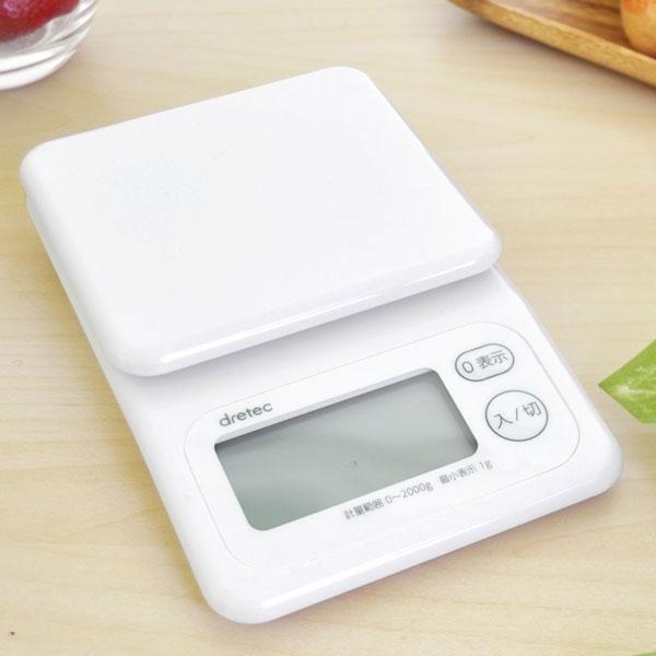 デジタルスケール はかり 台所用品 調理器具 最大2kg計測 1g単位 差引 追加 計測可能 - aimcube画像2