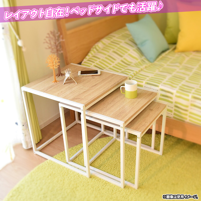 ソファサイドテーブル フラワーテーブル 花瓶台 花台 スチールフレーム - aimcube画像2