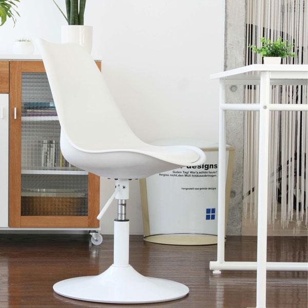 カウンターチェア 回転チェア ガス圧昇降式 PCチェア 事務所用椅子 台所いす - aimcube画像2