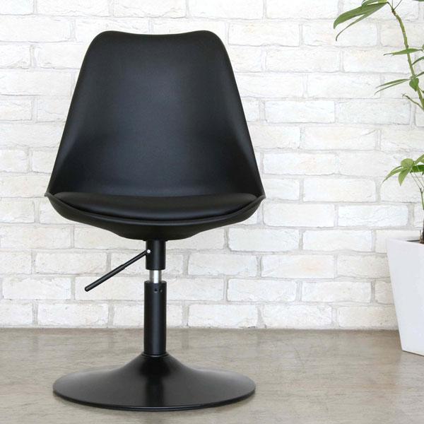 合成皮革 カフェチェア 座面回転チェア バーチェア 昇降チェア オフィスチェア - エイムキューブ画像3