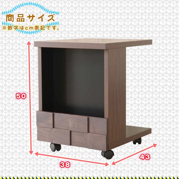 簡易テーブル コーナーテーブル 簡易デスク キャスター付 ナイトテーブル マガジン収納ラック付き - aimcube画像4