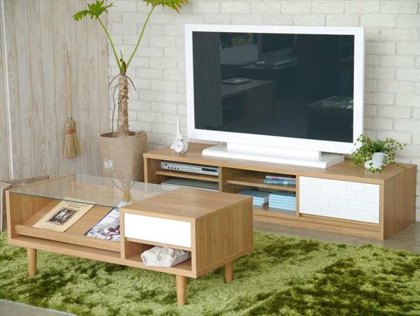センターテーブル リビングテーブル 小物入れ付 リモコン 収納 テーブル 幅100cm - aimcube画像2