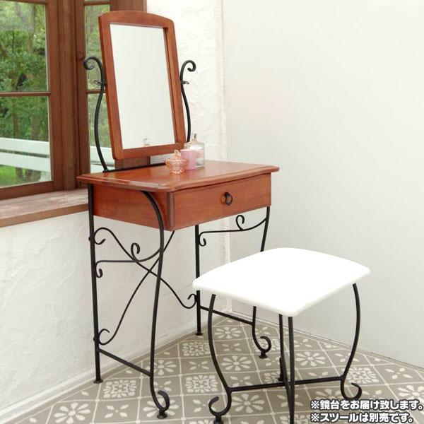 お化粧台 鏡台 可動棚 コンセント口 2個付 引出し収納付 北欧風 三面鏡 化粧台 - aimcube画像2