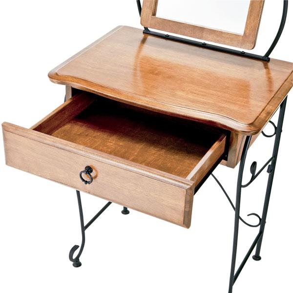 3面鏡 ドレッサー スツール セット 化粧台 椅子 コスメ デスク スツール収納 搭載 - エイムキューブ画像3