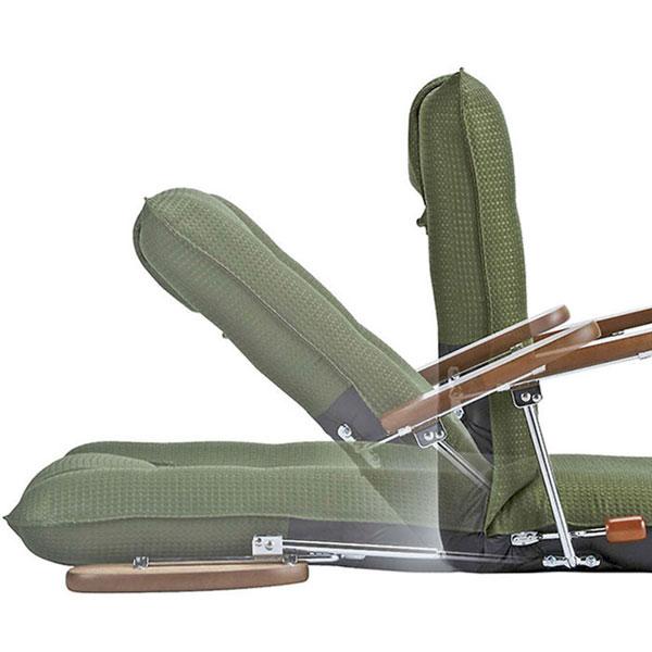 2段階調整 座椅子  リクライニングチェア サイドポケット付 リクライニング チェア 高座椅子 - aimcube画像4