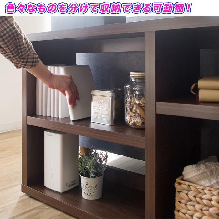 オープンシェルフ 間仕切り収納 本棚 飾り棚  背面化粧仕上げ - aimcube画像4