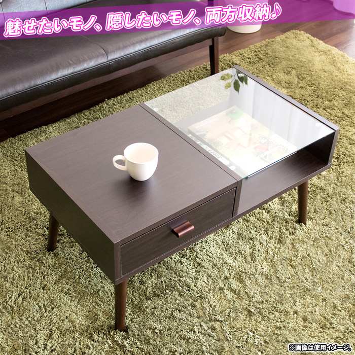 リビング テーブル コーヒーテーブル シンプル 台 引出し収納付 - aimcube画像2