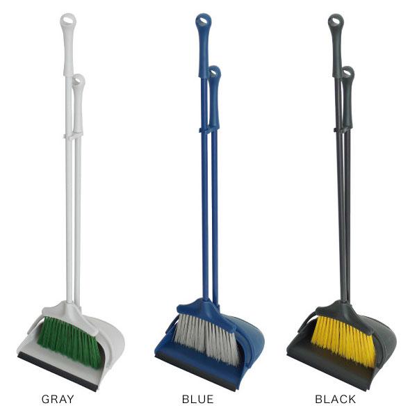 屋外ほうき 清掃 ホウキ チリトリ セット 壁掛け 4色展開 お洒落 可愛い スタイリッシュ - aimcube画像2