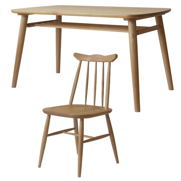 食卓テーブル 幅130cm ダイニングチェア 四人用 5点セット アルダー無垢材 ナチュラルテイスト - aimcube画像4