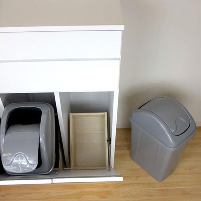キッチン収納 ごみ箱 分別ごみ箱 エナメル鏡面塗装 - aimcube画像4