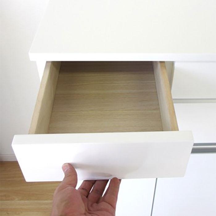 4分別 ダストボックス 木製 引出し収納4杯 ゴミ箱付き - エイムキューブ画像5