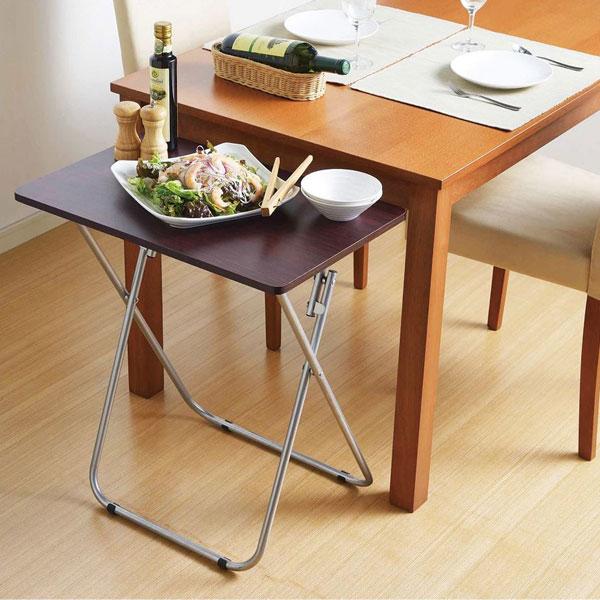 フォールディングテーブル 簡易テーブル 折り畳み式 ベッドサイド 作業机 サイドテーブル - aimcube画像2