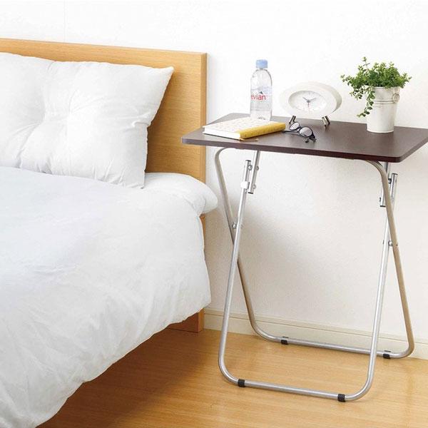 折りたたみテーブル 幅58cm サイドテーブル 机 補助テーブル ミニテーブル 食卓 リビング - エイムキューブ画像3
