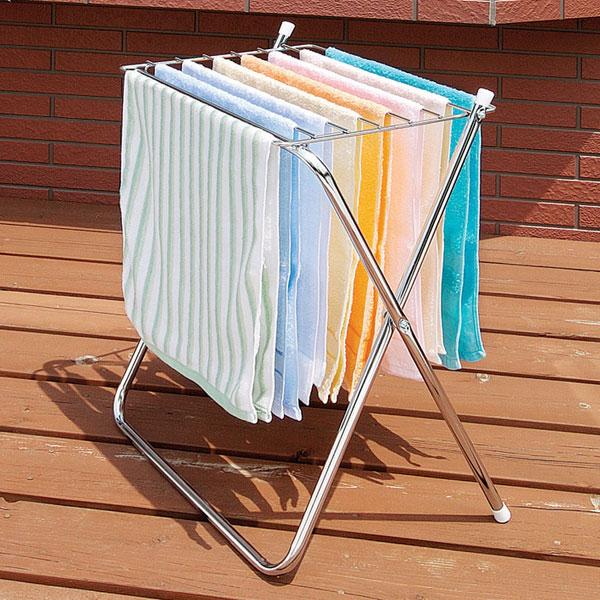 洗濯物干し 室内 ハンガー バスタオル ハンガー 耐荷重 約6kg ハンガー部 ステンレス素材 - aimcube画像2