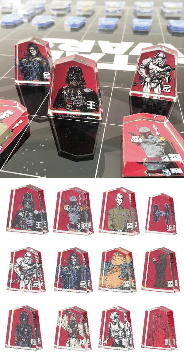 将棋セット スター・ウォーズ 将棋盤 将棋駒 STAR WARS デザイン 新年会 忘年会 の景品に最適 - エイムキューブ画像3