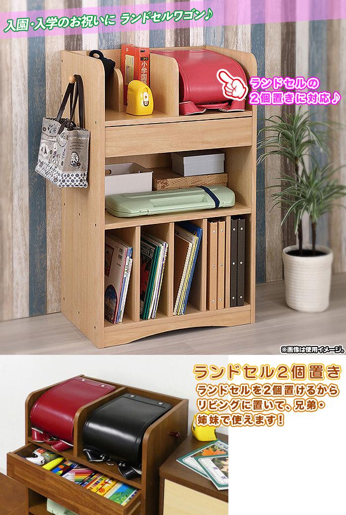 木製 教科書ラック デスクサイドラック サイドラック 本棚 引出し収納搭載 - aimcube画像2
