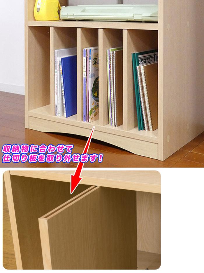 木製 教科書ラック デスクサイドラック サイドラック 本棚 引出し収納搭載 - aimcube画像4