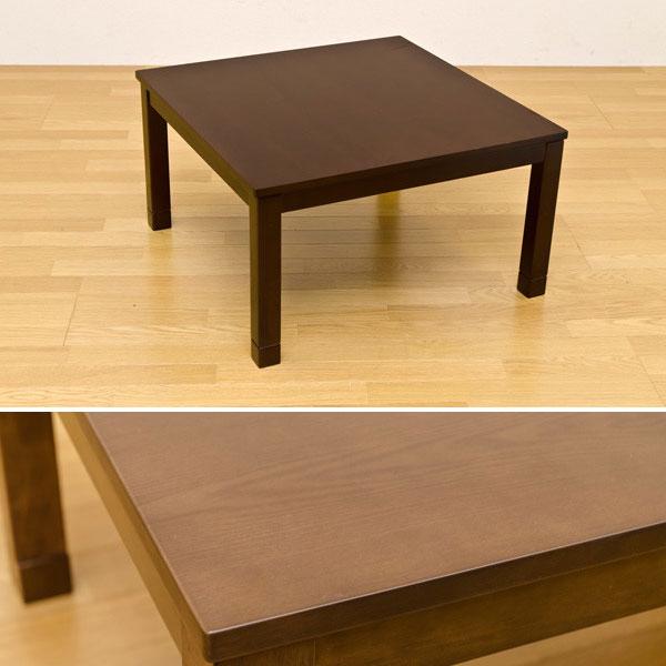 モダンコタツ センターテーブル ハイテーブル コード収納内蔵 石英管ヒーター 正方形テーブル - aimcube画像2
