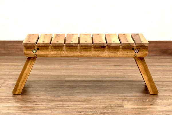 ガーデンテーブル ベランダ お庭 テーブル 完成品 アカシア素材 簡易テーブル - aimcube画像4