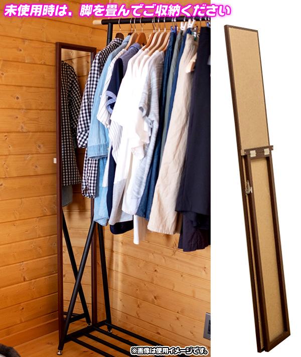 木目柄 スタンドミラー 木製フレーム シンプル ミラー 姿見 合わせ易い ミラー 全身鏡 - エイムキューブ画像3