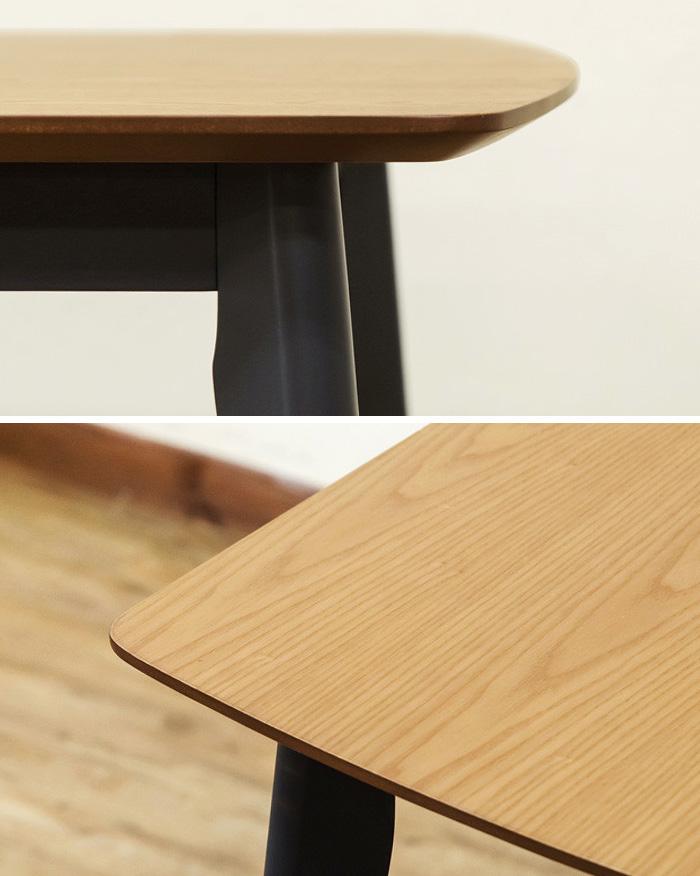 北欧風 シンプル ダイニングテーブル 幅120cm 奥行75cm 食卓 作業台 - エイムキューブ画像3