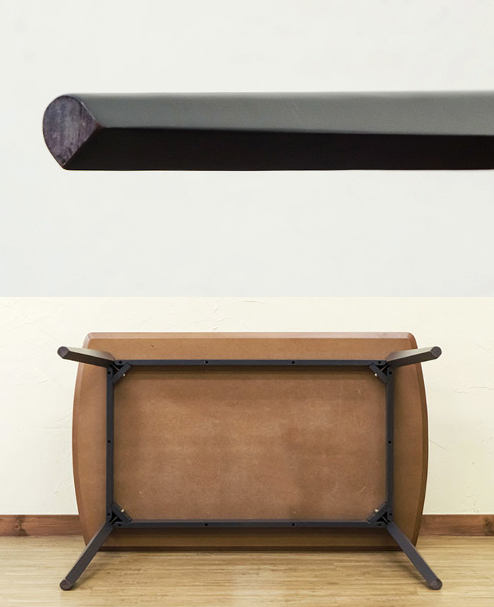 角丸 食卓テーブル 4人用 木製 テーブル おしゃれ 台 長方形 - aimcube画像4