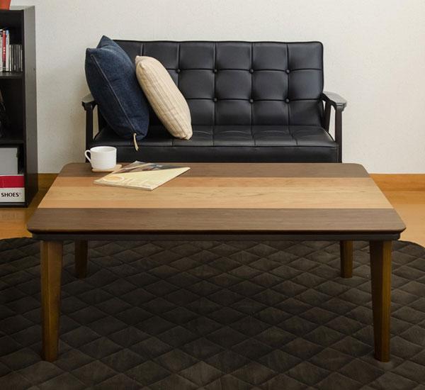 家具調こたつ センターテーブル モダンコタツ 薄型ヒーター 石英管ヒーター 長方形テーブル - aimcube画像2