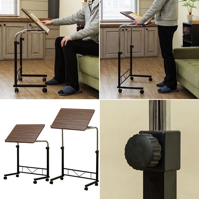 サイドテーブル マルチテーブル 高さ調整 ベッドテーブル 作業台 - エイムキューブ画像3