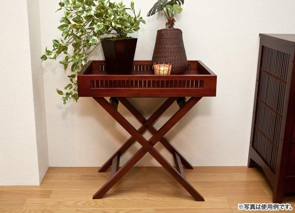 和風サイドテーブル 折りたたみテーブル ナイトテーブル - エイムキューブ画像3