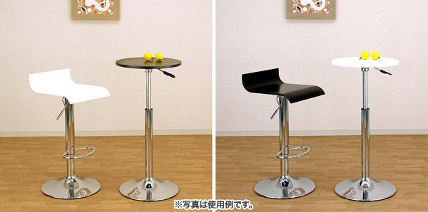 ガス圧 バーテーブル 40cm幅 昇降テーブル カウンターテーブル サイドテーブル - エイムキューブ画像3