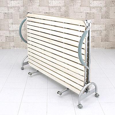 折りたたみ式すのこベッド セミダブルサイズ 幅125cm 簡易ベッド