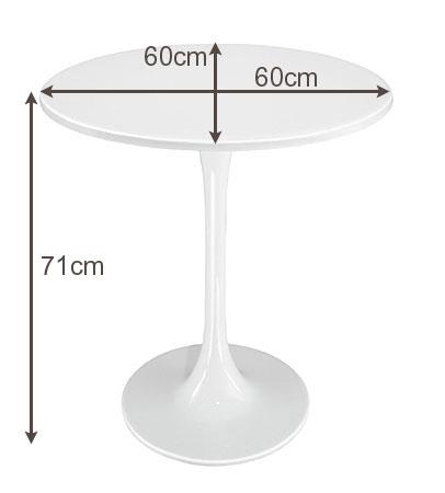 バーテーブル 幅60cm サイドテーブル 60cm幅 花台 飾り台 完成品 リビングテーブル コーナーテーブル - aimcube画像4