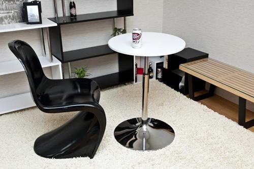 ガス圧昇降式 バーテーブル 55cm幅 サイドテーブル - エイムキューブ画像1