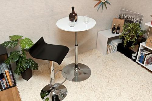 ガス圧昇降式 バーテーブル 55cm幅 サイドテーブル - エイムキューブ画像3