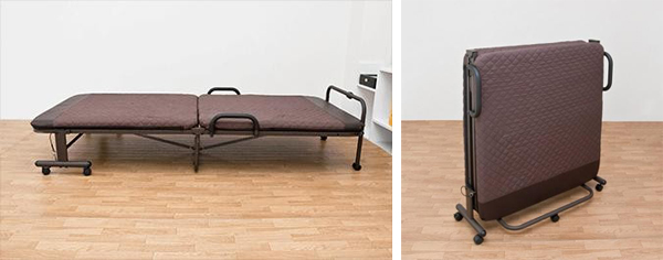 6段階リクライニングベッド 折りたたみベッド 1人用 簡易ベッド