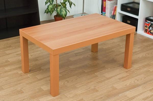 木目調リビングテーブル 80cm幅 白 ホワイト センターテーブル 食卓 一人暮し - エイムキューブ画像. ローテーブル 高さ38cm ...