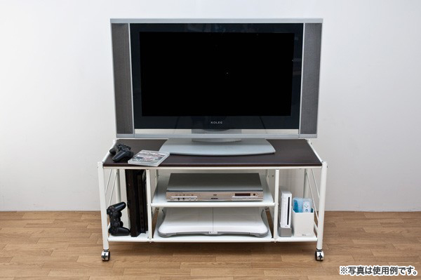 テレビ台 幅100cm 白 ホワイト 棚付 テレビラック - aimcube画像2