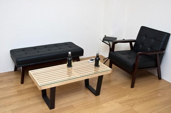 アンティーク調 ラウンジソファ 一人掛け用 ソファ PVCレザー リビングチェア ルームチェア - エイムキューブ画像1