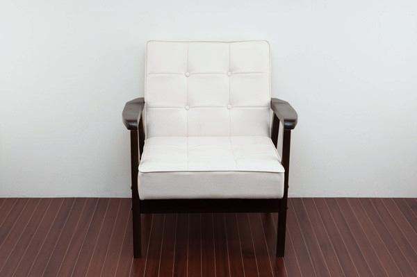 アンティーク調 ラウンジソファ 一人掛け用 ソファ PVCレザー リビングチェア ルームチェア - エイムキューブ画像3