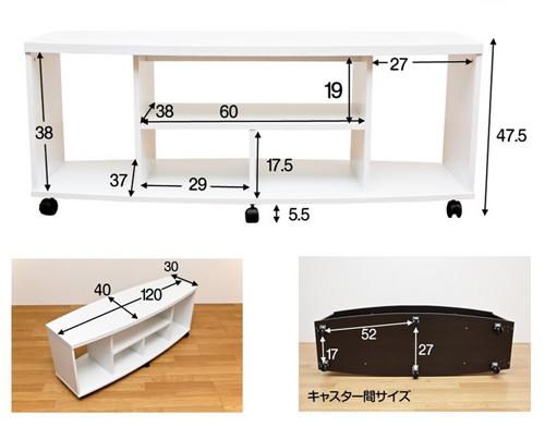 ローボード 高さ40cm DVDプレーヤーラック ディスプレイラック サイドテーブル - aimcube画像6