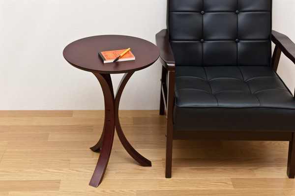 サイドテーブル ライトブラウン フラワースタンド 展示台 - エイムキューブ画像1