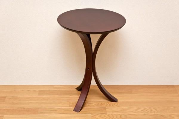 ベッドサイドテーブル ライトブラウン ラウンドテーブル 飾り台 - aimcube画像2