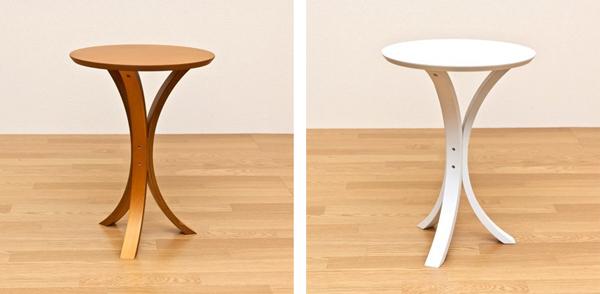サイドテーブル ライトブラウン フラワースタンド 展示台 - エイムキューブ画像3
