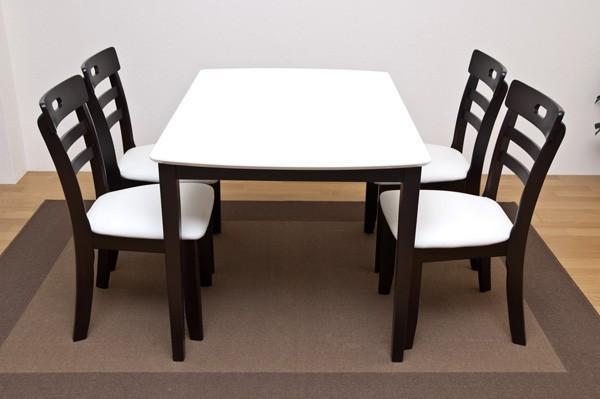 ダイニングセット4人用5点セット ダイニングテーブル 椅子 テーブル イス2脚 - エイムキューブ画像1