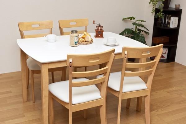 テーブル幅120cm チェア完成品4脚☆食卓セット リビングテーブル ダイニングチェアセット - aimcube画像2