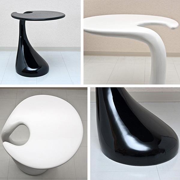 FRP製 サイドテーブル ベッドテーブル ソファサイドテーブル 接地面フェルト貼り - エイムキューブ画像3