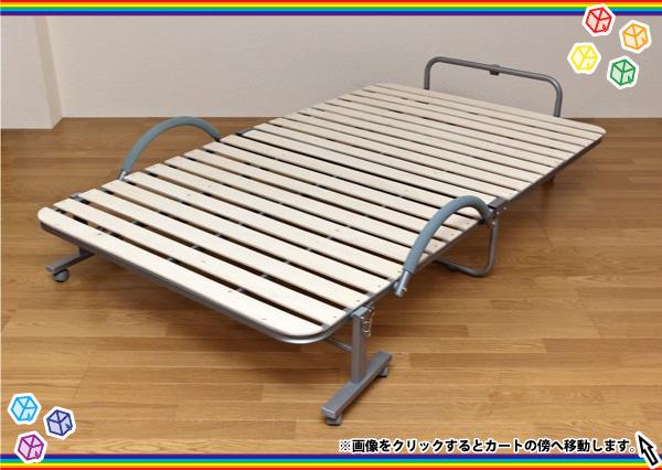 折りたたみ式すのこベッド/セミダブルベッド スノコベッド,折り畳み