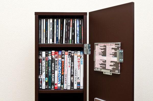 丸窓 タワーラック 棚板調節可 CDラック DVDラック ディスプレイラック コミックラック - エイムキューブ画像3