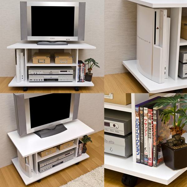TVボード ローボード リビングボード キャスター付 シンプル 収納ラック オープンラック - aimcube画像2