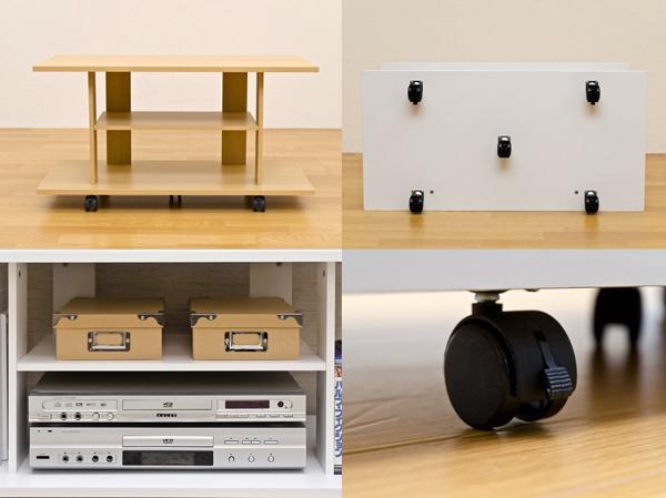 TVボード ローボード リビングボード キャスター付 シンプル 収納ラック オープンラック - aimcube画像4